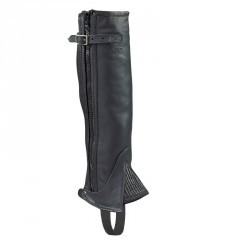 Minichaps équitation adulte LAMI-CEL cuir noir