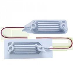 Connecteur clôture équitation pour rubans jusqu'à 40mm - 80cm X1