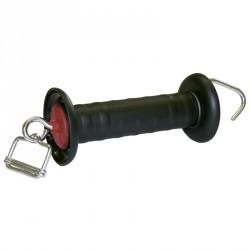 Poignée pour clôture équitation pour rubans jusqu'à 40mm noir