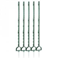 Piquets plastique pour clôture équitation - 160cm X5 vert
