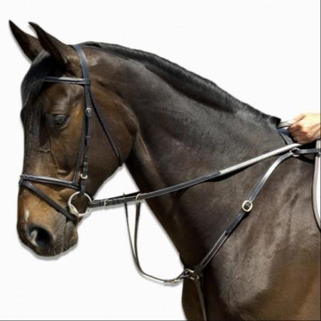 Collier de chasse équitation SCHOOLING noir - taille poney