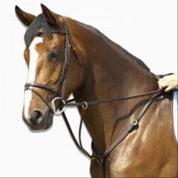 Collier de chasse équitation SCHOOLING marron - taille cheval