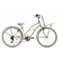 Beachcruiser Cargo 26´´ Kahuna vert menthe-beige TC 41 cm KS Cycling