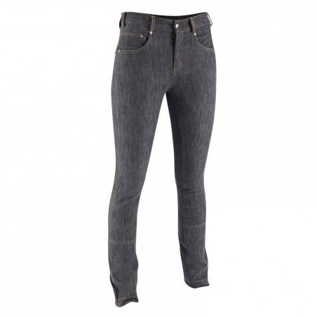 Pantalon équitation femme BAS DROIT JEANS gris