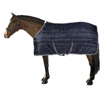 Couverture d'écurie équitation STABLE 200 bleu marine - poney et cheval