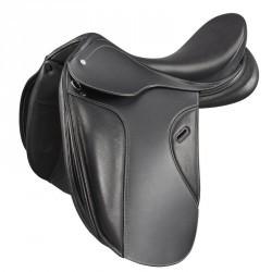 """Selle équitation de dressage en cuir ROMEO noir 17""""5"""