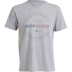 1031N-TEXT LIFESTYLE TSHIRT MC H  homme QUIKSILVER HEATHER TEE FREE ZONE
