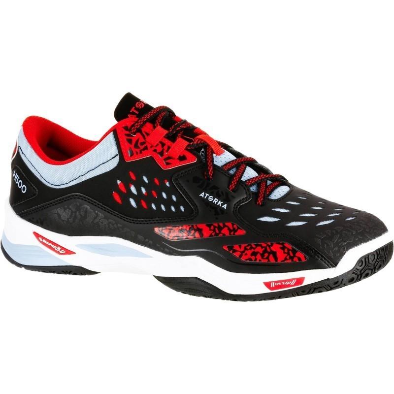 Avis   test - Chaussures de Handball H500 adulte noires et rouges ... f89e651ea66