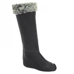 Chaussons pour bottes équitation adulte polaire / fourrure