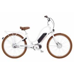 Vélo de Ville Électrique Electra Townie Go! 8i Shimano Nexus 8V Blanc 2018