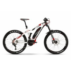 VTT Electrique Haibike Xduro AllMtn 6.0 27.5´´ Shimano Deore 10V 2018 Blanc Rouge