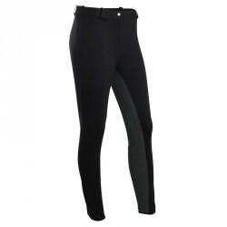 Pantalon fond de peau équitation femme ACCESSY 300 noir
