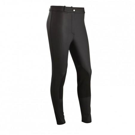 Pantalon chaud imperméable équitation enfant KIPWARM noir