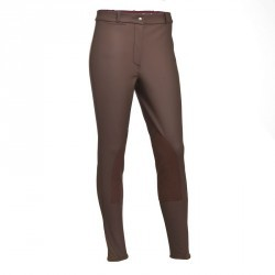 Pantalon chaud imperméable équitation enfant KIPWARM marron