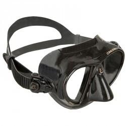Masque de chasse sous-marine et d'apnée NANO BLACK noir