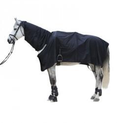 Chemise imperméable équitation cheval et poney PROTECT'RAIN noir