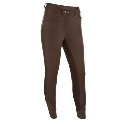 Pantalon fond de peau équitation femme PERFORMER 300 marron