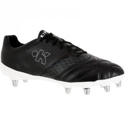 Chaussures de rugby adulte 8 crampons Density 100 SG noire