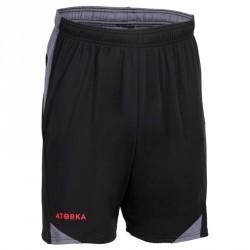 Short de handball H500 homme noir et gris