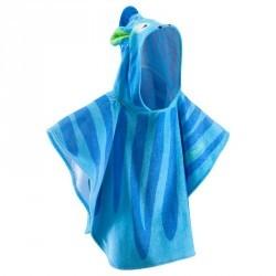 Poncho bébé avec capuche bleu zebro