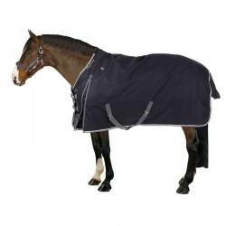 Couverture d'extérieur équitation ALLWEATHER 300 1000 bleu et gris-cheval/poney