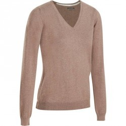 PULL GOLF FEMME 500 SEPIA CHINE