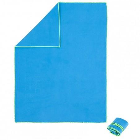 Serviette microfibre bleue taille S 42 x 55 cm