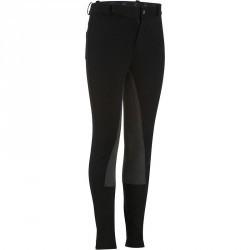 Pantalon équitation enfant FULLSEAT noir et gris
