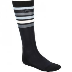 Chaussettes équitation adulte BASIC noir rayures grises X 1 paire