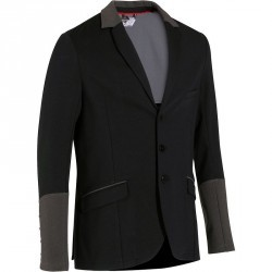 Veste de concours équitation homme PADDOCK noir et gris