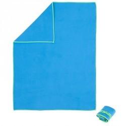 Serviette microfibre bleu ultra compacte taille M 65 x 90cm