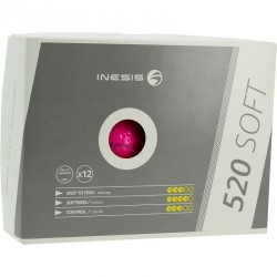 Balles de Golf 520 soft X12 rose
