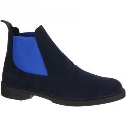 Boots équitation adulte CLASSIC 300 bleu marine/bleu
