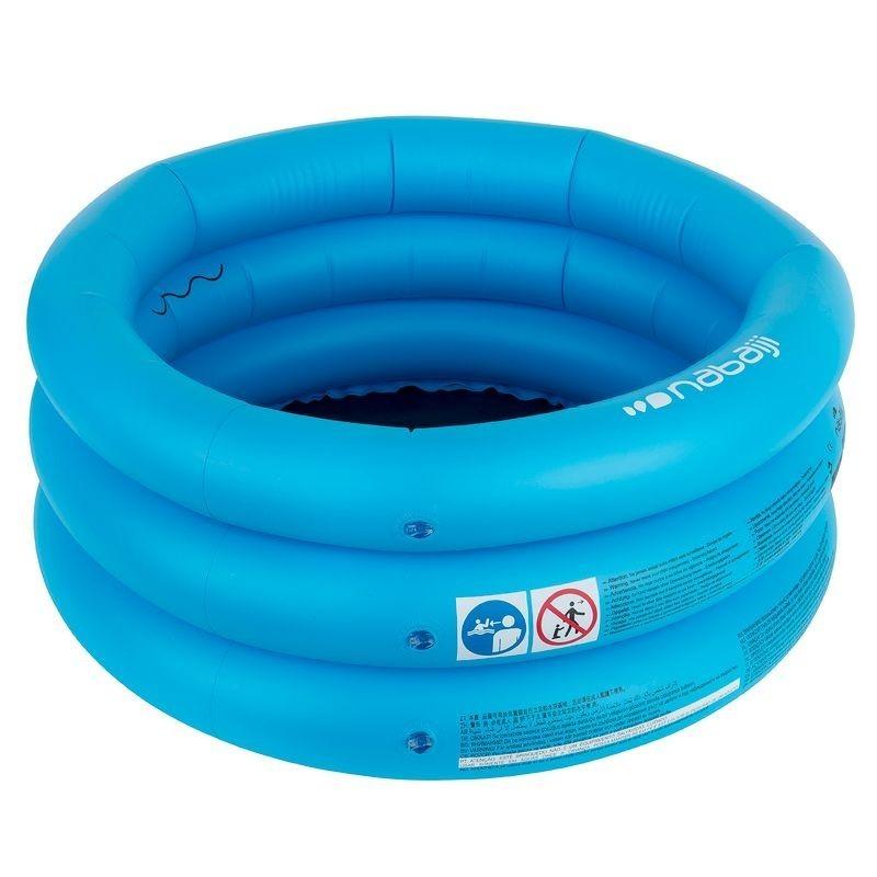 Avis et test sur piscinette gonflable ronde munie de trois for Prix piscine gonflable decathlon