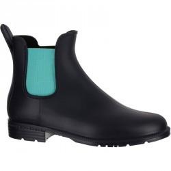 Boots équitation enfant SCHOOLING 300 bleu marine/turquoise