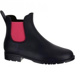 Boots équitation enfant SCHOOLING 300  bleu marine/rose