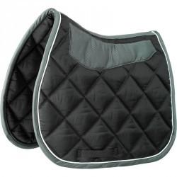 Tapis de selle équitation cheval GRIPPY noir/gris