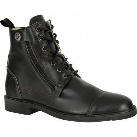 Boots équitation adulte TRAINING LACET 700 noir