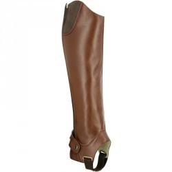 Mini-chaps équitation adulte TRAINING 700 cuir marron