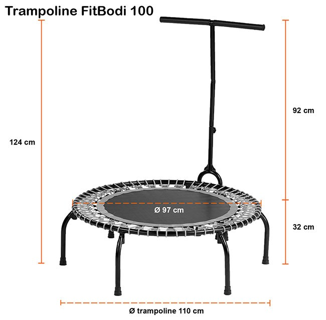 mini trampoline fitness fitbodi 100 de kangui avis sportifs. Black Bedroom Furniture Sets. Home Design Ideas