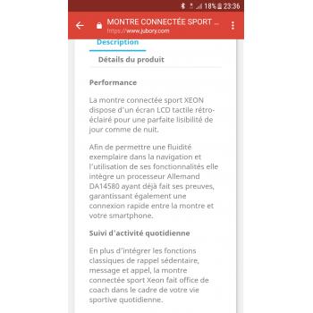 Avis   test - MONTRE CONNECTÉE SPORT XEON - CELLYS - Prix 90683ca99a89